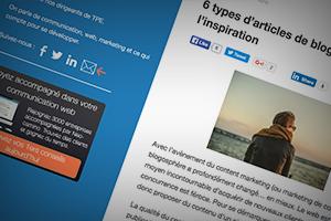 6 types d'articles de blog pour garder l'inspiration